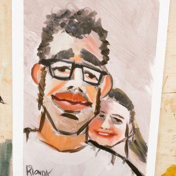 retratos chico y chica